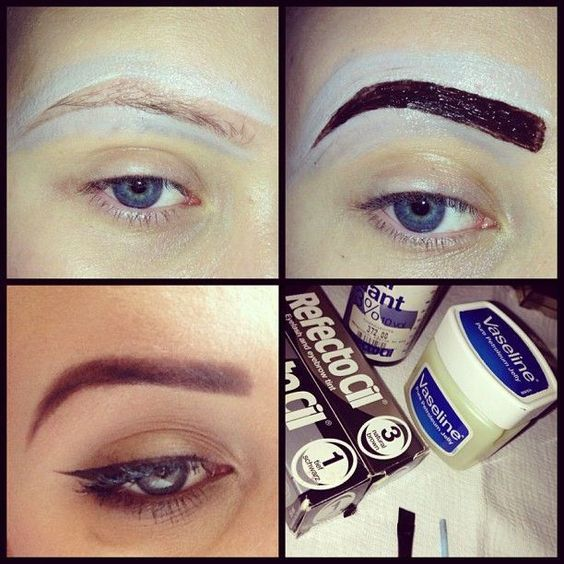 How to Dye Your Eyebrows at Home   Dye eyebrows, Makeup ...