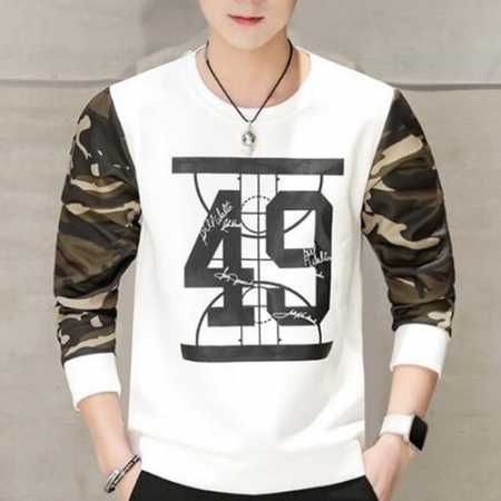 Fashion camo sweatshirt for teenage guys number 49 sweatshirts