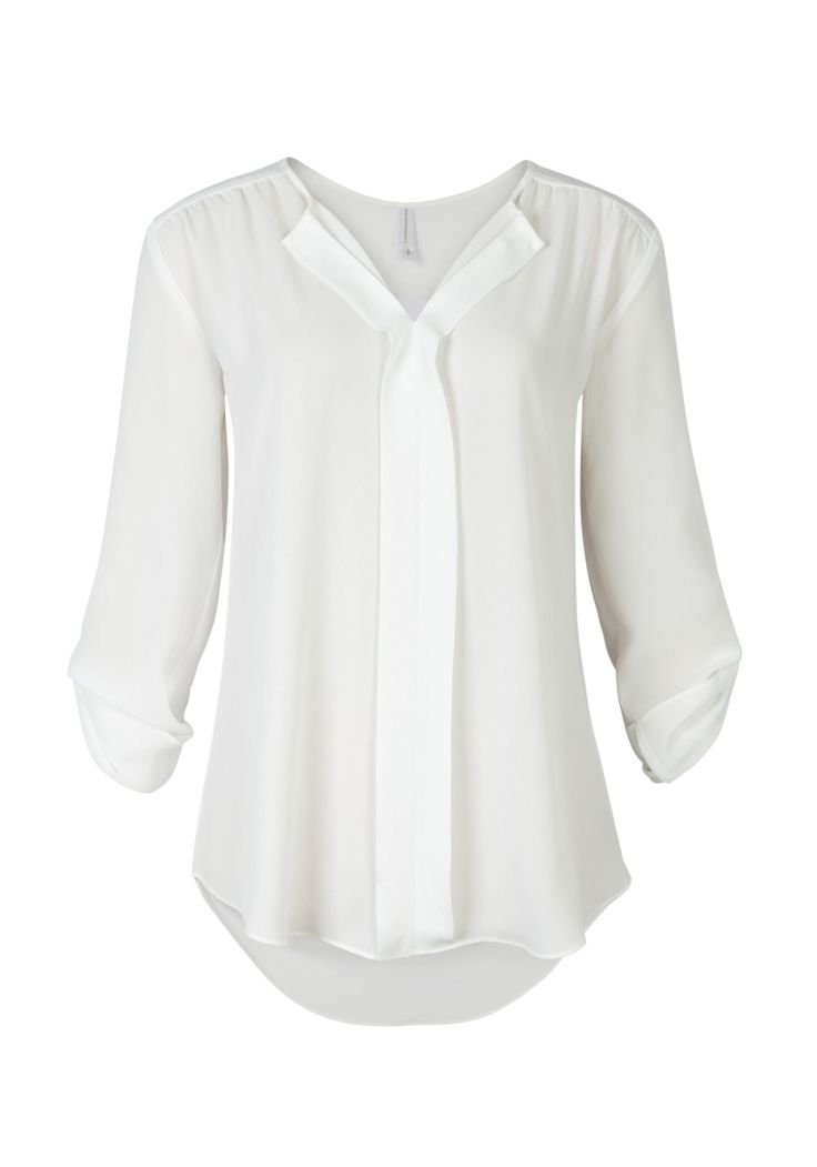 SOLID PLEAT FRONT ROLL SLEEVE SHIRT