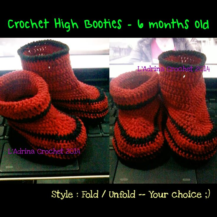 Flexible Crochet Boot !!! It's cute for your baby
