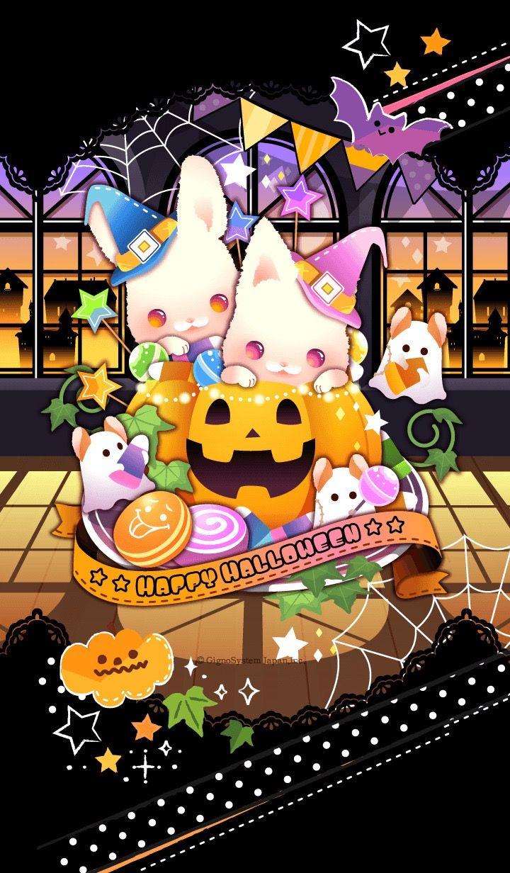Pin By Sai On Candyland Kawaii Halloween Cute Cartoon Wallpapers Hello Kitty Halloween Anime cute halloween wallpaper