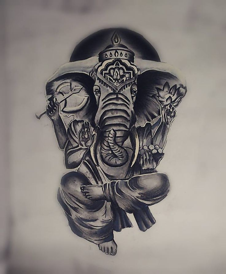 GANESHA Charcoal Sketch by Swanand Bhagat
