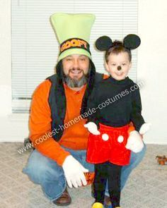 Homemade Goofy and Mickey Mouse Costumes: After visiting Disney World our son wanted to be Mickey Mouse. I could not stand the pre-made costumes we found in store and online so I decided to make