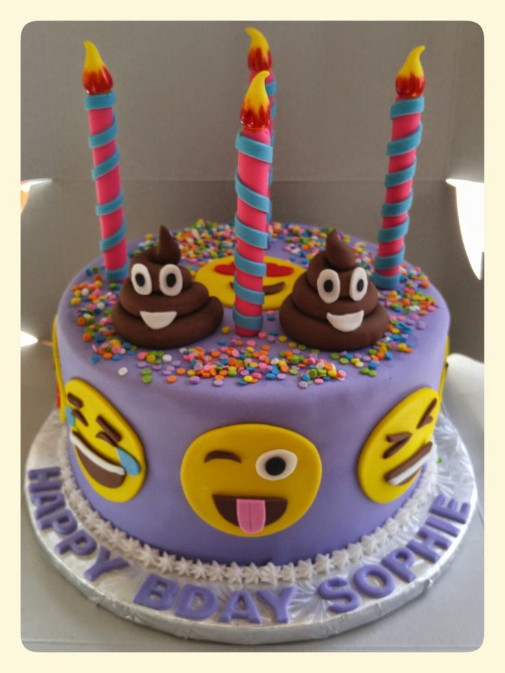 Cake Ideas For Girl S 7th Birthday : 25+ best ideas about Emoji Cake on Pinterest Birthday ...