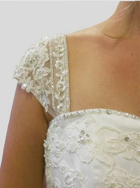 How to add straps to a strapless wedding gown:  http://www.rosemarydesigns.net/Adding-straps-to-a-Bridal-Gown.html