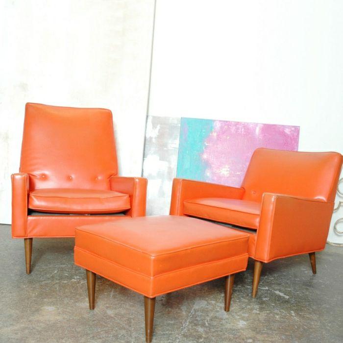 Orange Design Sessel Lederstuhl Design Sessel Design Sessel Leder Sessel