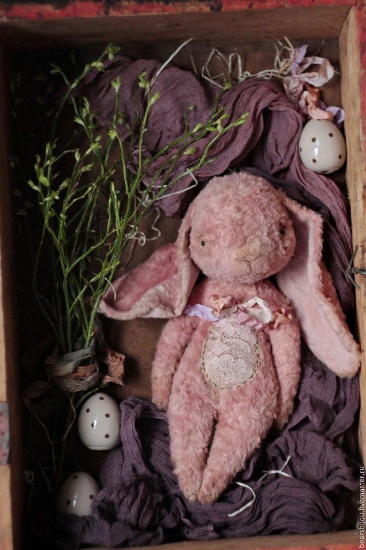 Купить Зайка пасхальный - бледно-розовый, зайка, зайка пасхальный, пасхальный заяц, пасхальный декор
