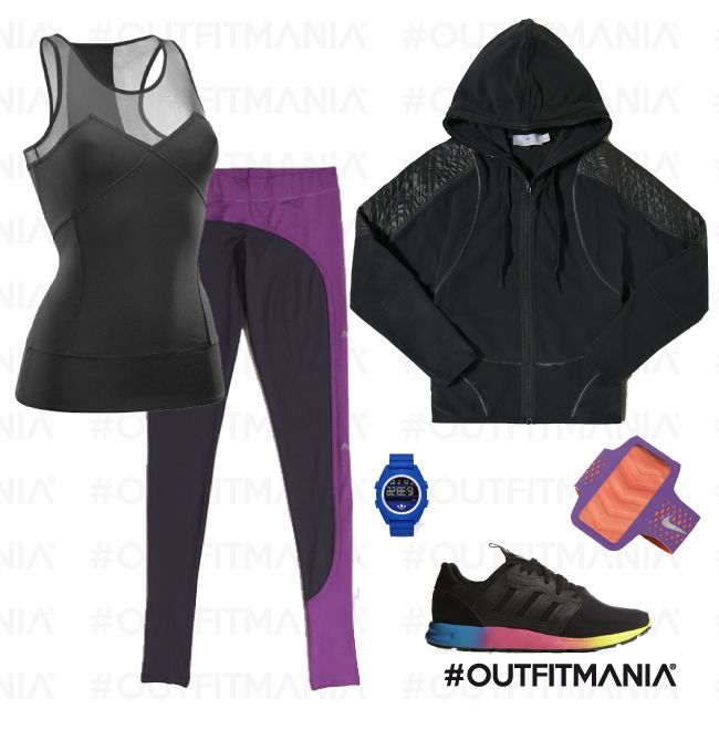 Training | Tuta da training , accessori in velcro e un high-performance contapassi... |  #outfitmania #outfit #style #fashion #dresscode #amazing #like #follow #Adidas #leggins #Adidas by Stella Mccartney | CLICCA SULLA FOTO PER SCOPRIRE L'OUTFIT E COME ACQUISTARLO
