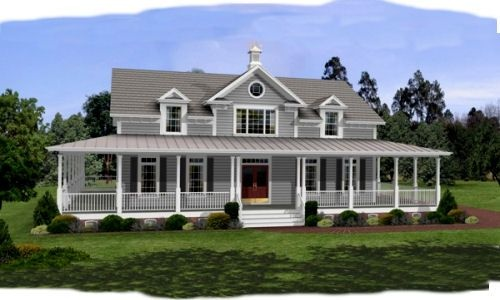 HousePlans.com 56-238  Definitely maybe: Dream Homes, Houseplans, Country House, Dream House, House Idea, Wrap Around Porches, Dreamhouse, House Plans