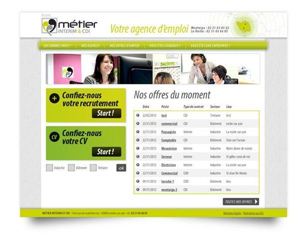 Fondée en Vendée en 2011, cette jeune et féminine agence d'intérim confie à AE2 la réalisation de son site web. Gestion et accessibilité des annonces, ergonomie, ambiance graphique épurée… le site se veut à la fois sobre et fonctionnel.