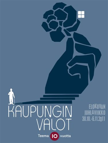 Teema Film Festival 2011 / City Lights by Chaplin / poster by Kirsi Kukkurainen / YLE