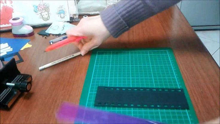 come realizzare una pellicola con bind it all ( tutorial film strip with...