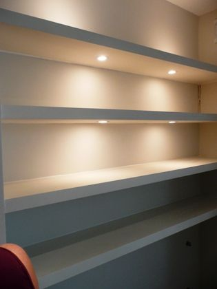 shelves with lighs - Google Search