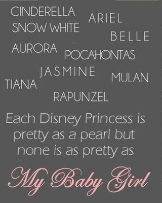 Cute quote for my baby girl's room
