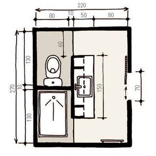 Bathroom – partitions and shelves wall, possible layout + floor plan – b …   – Badezimmer