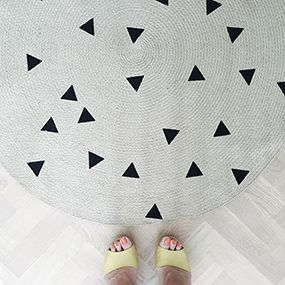 Gorgeous carpet in eco-friendly jute from Ferm Living.