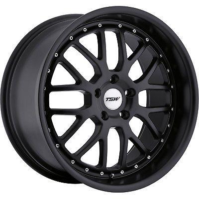20x8.5 Matte Black TSW Valencia Wheels 5x120 20 BMW 6 SERIES 640 6 SERIES 650