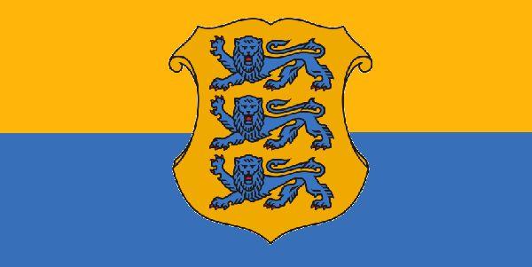 Flaga Estonii (proponowana - wzorowana na herbie i kolorach Księstwa Estonii z lat 1561-1721)