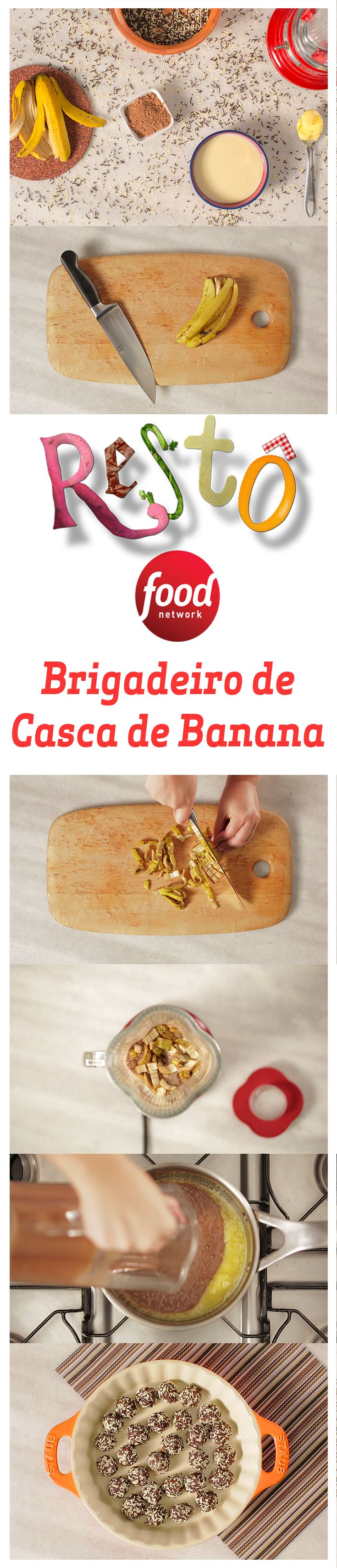 Este Brigadeiro leva Casca de Banana na sua receita e, além de ser sustentável é uma delícia!