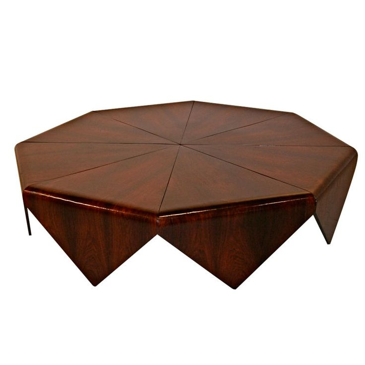 Petalas Coffee Table by Jorge Zalszupin in Brazilian Jacaranda | From a unique collection of antique and modern coffee and cocktail tables at https://www.1stdibs.com/furniture/tables/coffee-tables-cocktail-tables/