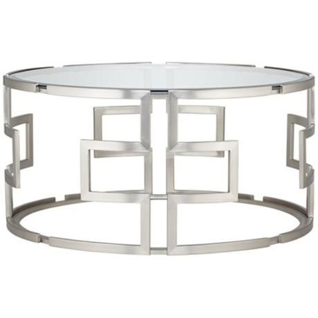 Geometric silver glass coffee table from lamps plus love for Table de mixage zmx 52