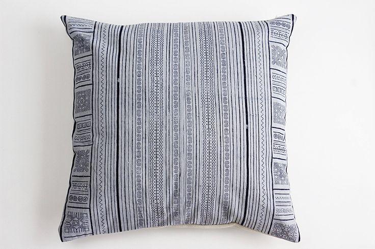 Boho Bohemian Rare Vintage HMONG Textile Batik Hand dyed Embroidered Ethnic Textile Blue Navy Nautical Pillow Case BT2 by Tshaj on Etsy https://www.etsy.com/listing/529252154/boho-bohemian-rare-vintage-hmong-textile