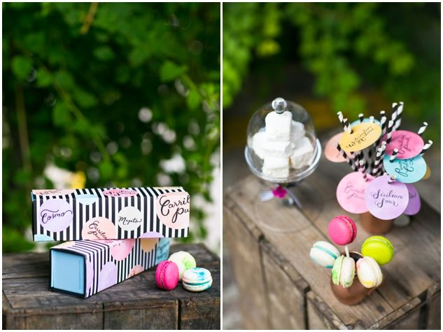 Colourful Cocktails & Macarons Styled Shoot By Anges De Sucre