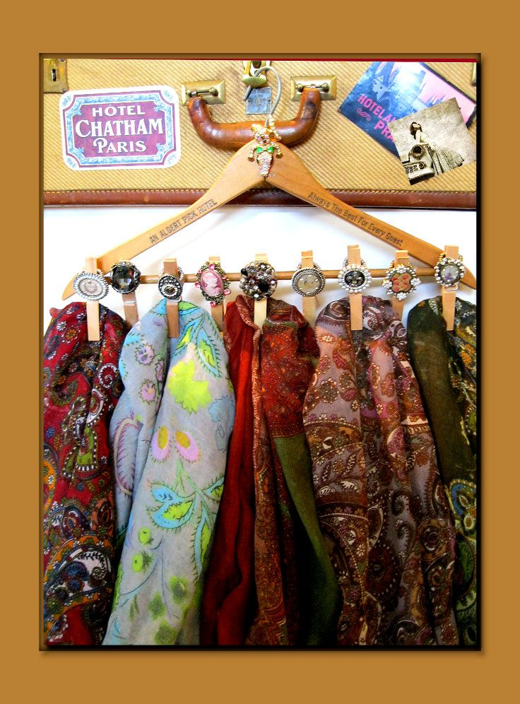 Vintage Scarf Hanger & Ring Holder Find your scarves with ease Hot  Scarves And How To Wear Them Book