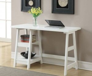 Charming Wooden Writing Desk Small Spaces Idea