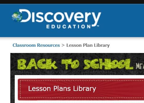 Discovery Education Lesson Plan Library: Free lesson plans written by teachers for teachers. Like you. Classroom Resources has hundreds of original lesson plans for elementary, middle, and high school students. Borrow them as-is or use them to spark your own lesson plans.