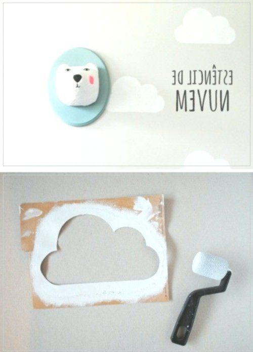 Eine Wolkenschablone für die schnelle Kinderzimmer Wandgestaltung Toys, Kids & Baby #die #Eine #für #Kinderzimmer #Schnelle