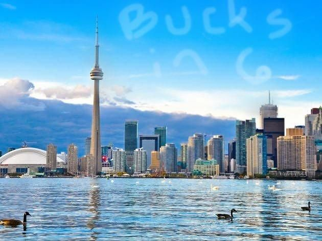 The weather in Toronto is beautiful today