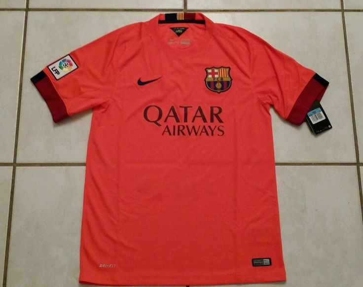 NWT NIKE FC Barcelona 2014 Away Soccer Jersey Men's Medium  | eBay
