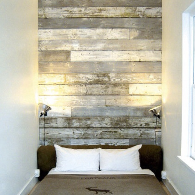 Reclaimed Wood Headboard Love Casas Pinterest