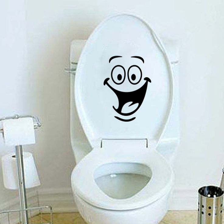 Kids Room Wall Sticker Toilet Bathroom Waterproof Decorative Vinyl Wall  Stickers Toilet Seat Wall Decal Mual