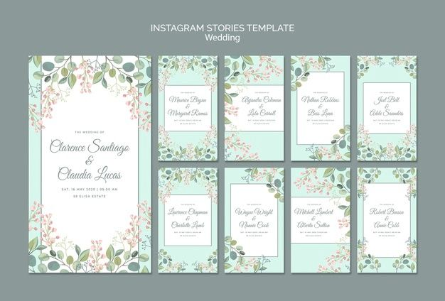 Download Save The Date Floral Wedding Instagram Stories For Free Watercolor Wedding Invitations Wedding Invitation Posters Minimal Wedding Invitation