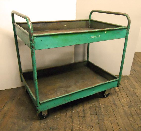 Steampunk Cart Metal Industrial Utility by urbanfactoryclassics, $85.00