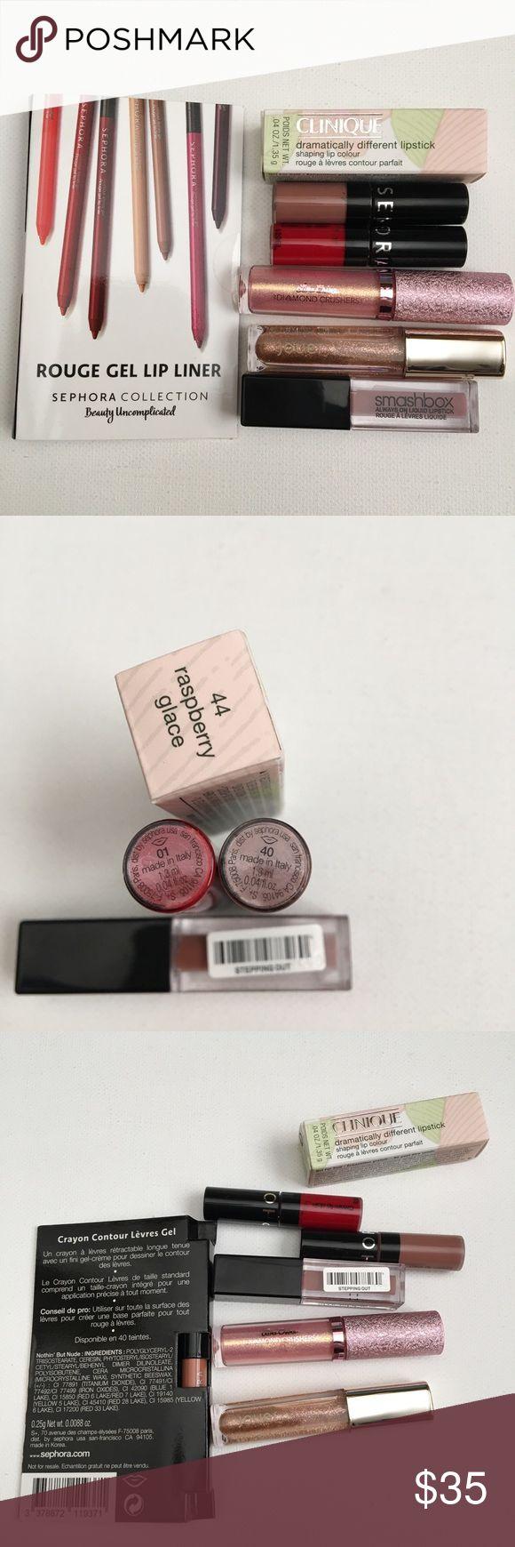 Sephora Clinique Smashbox Lip Gloss bundle Lot 7 Sephora