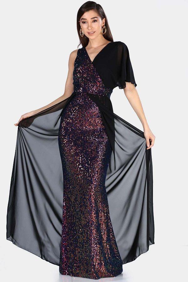 فستان سهرة طويل بترتر مفصل بتول Women S Evening Dresses Dresses Evening Dresses