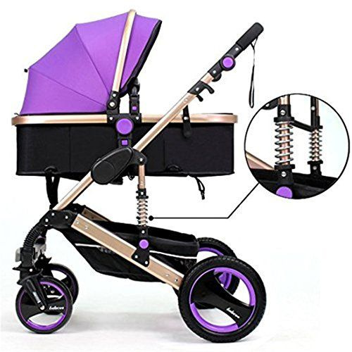 Luxury Newborn Baby Foldable Travel System Anti-shock High View Carriage Infant Stroller Pushchair Pram (Purple) For Sale https://babycarseat.co/luxury-newborn-baby-foldable-travel-system-anti-shock-high-view-carriage-infant-stroller-pushchair-pram-purple-for-sale/