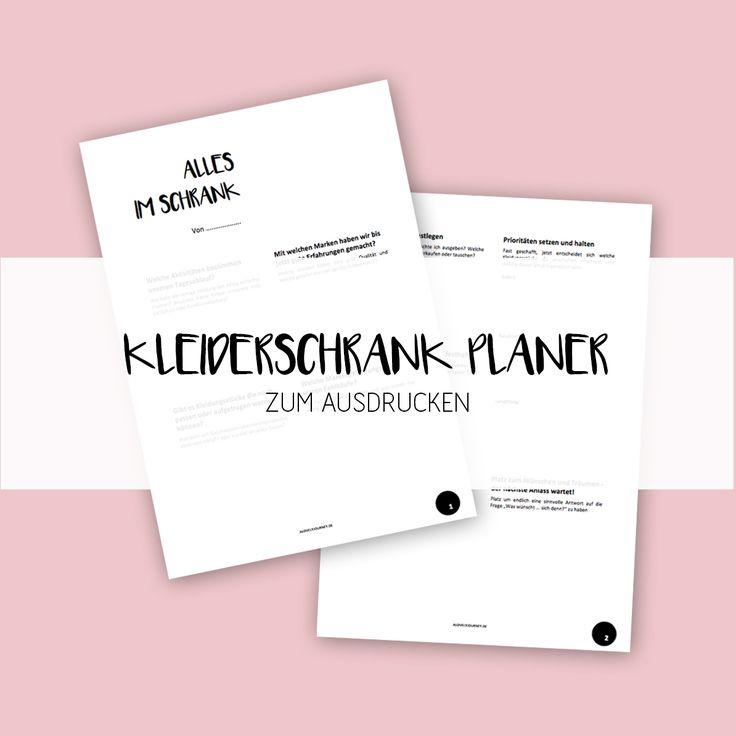 Einfacher Kleiderschrank Planer für Kinder + Co. via alovelyjourney.de