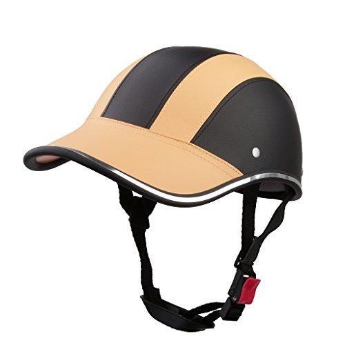 Oferta: 10.82€ Dto: -44%. Comprar Ofertas de Casco de Abierta Casquillo Sombrero Motocicleta Motocross Mitad Cara Visera Correa Ajustable Protección - Naranja claro barato. ¡Mira las ofertas!