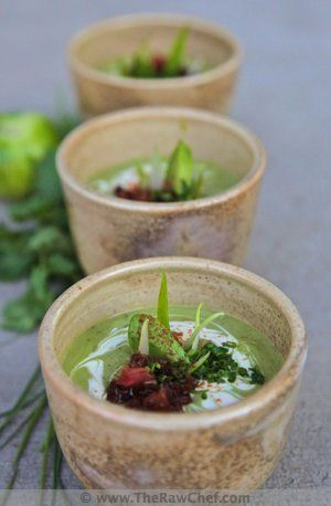Avocado Lime Soup (Raw Food)