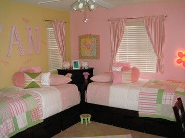 twin girls room modern kids los angeles legacy designs the beds