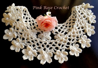 \ PINK ROSE CROCHET /: Gola Anne