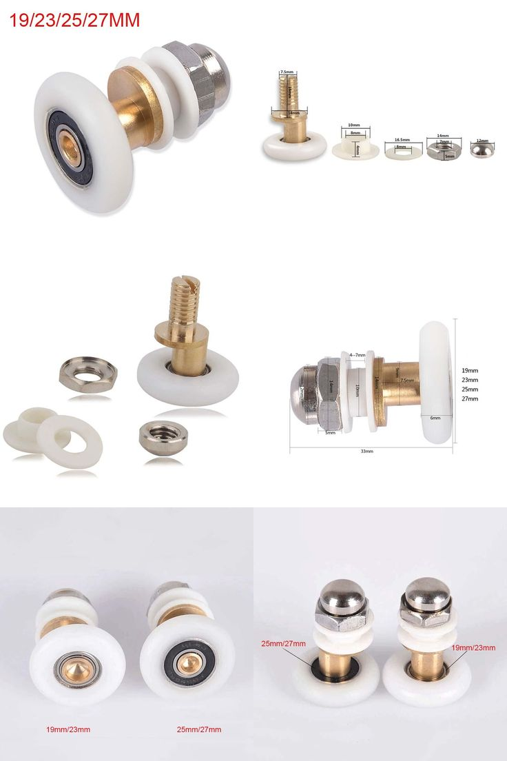 [Visit to Buy] Free shipping 1 piece brass single eccentric shower door rollers shower wheels applied to 4-6mm shower cabin CP190-1 #Advertisement