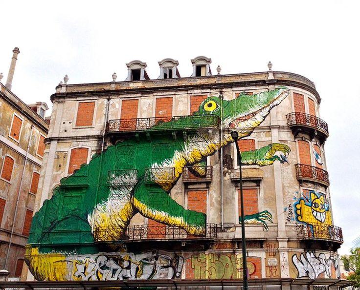 Seni Jalanan Lukisan Mural di Kota Lisbon di Portugal 2
