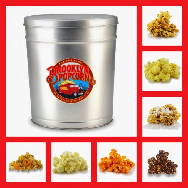***Giveaway*** Enter to win a 1-Gallon Brooklyn Popcorn Tin with your choice of popcorn flavor! Ends 3/19