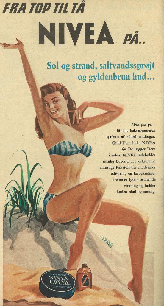 Den originale Nivea-creme var 50'ernes bud på solcreme.