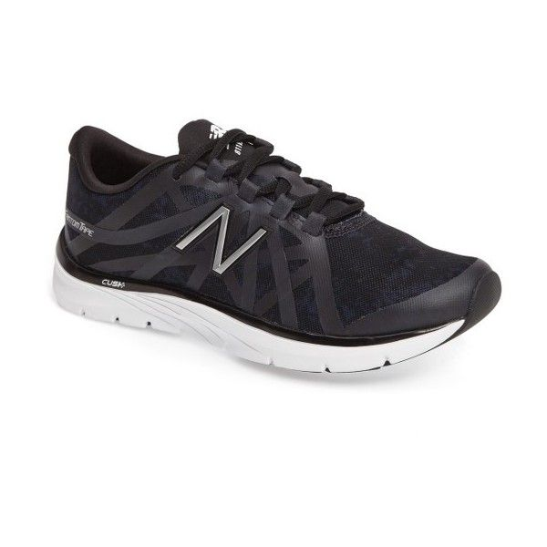 Women's New Balance 811 V2 Training Sneaker (235 BRL) ❤ liked on Polyvore featuring shoes, sneakers, black, black trainers, training shoes, lightweight sneakers, training sneakers and long shoes